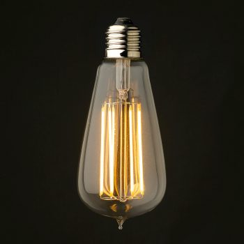 6 Watt Dimmable Lantern Filament LED E27 Clear Edison