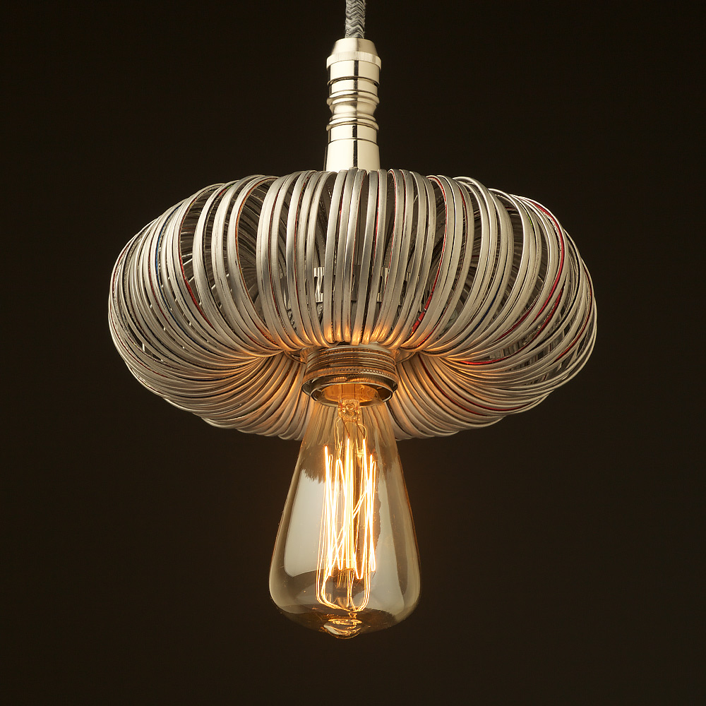 Nickel Pendant Light Fitting Of Aluminum Can Top Rings