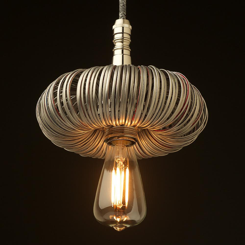 Modern Copper Ring Led Pendant Lighting 10758 Shipping: Nickel Pendant Light Fitting Of Aluminum Can Top Rings