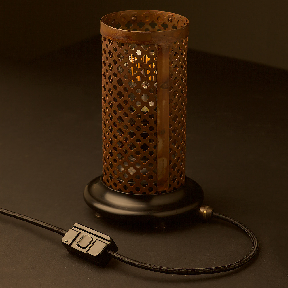 Club and round steel mesh table lamp aloadofball Choice Image
