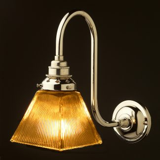 Nickel Doncaster bend box holophane wall light