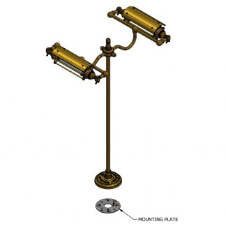 Bench mount Edison train carriage light