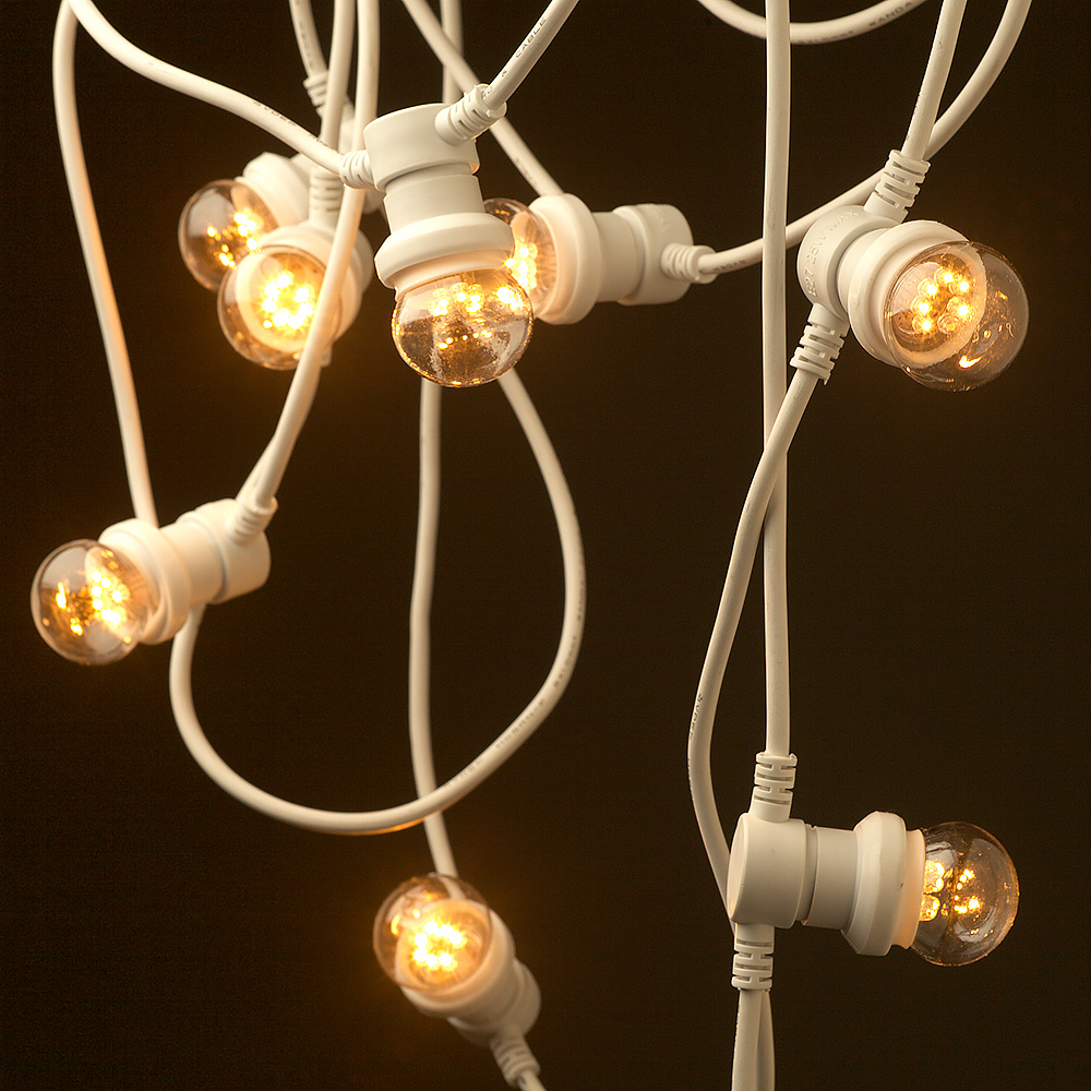 Crawfish String Party Lights : Vintage white Edison 20 Bulb Party Lighting 240V
