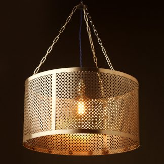 580mm steel club and round mesh shade