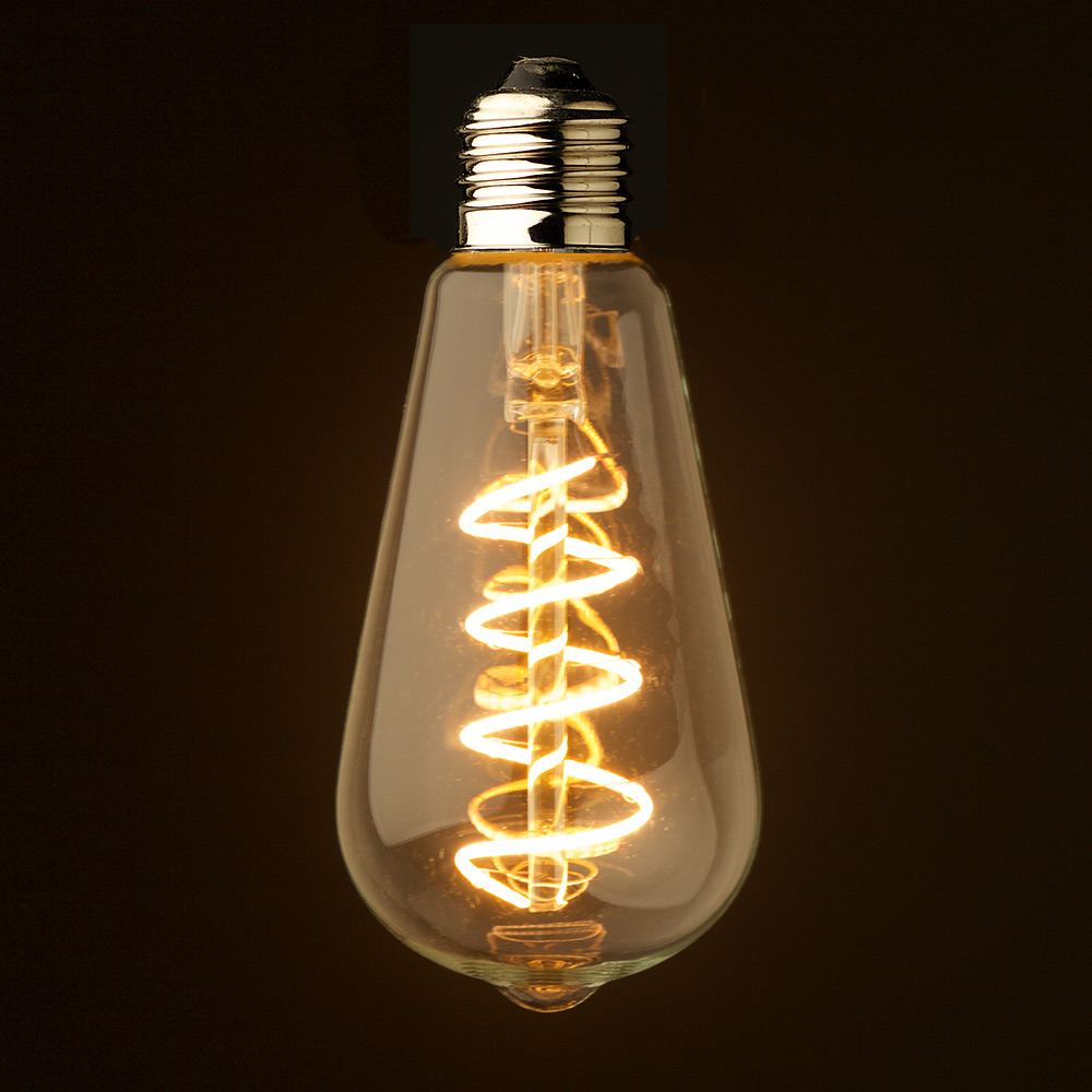 3 watt dimmable spiral filament led e27 clear edison. Black Bedroom Furniture Sets. Home Design Ideas