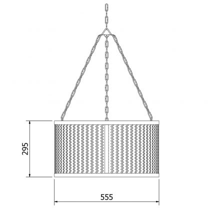 560mm Steel Club&Round Mesh Shade