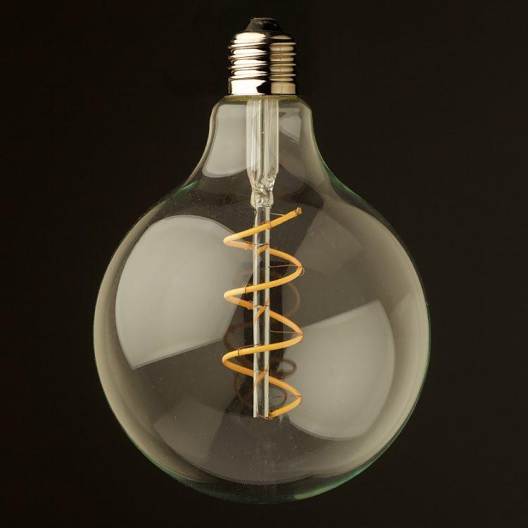 4 Watt Dimmable Spiral Filament LED E27 Clear 125mm