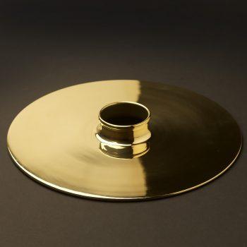Spun-brass-10-inch-flat-shade