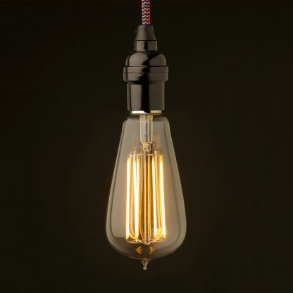 Edison style light bulb Vintage Bakelite fitting Lantern filament LED