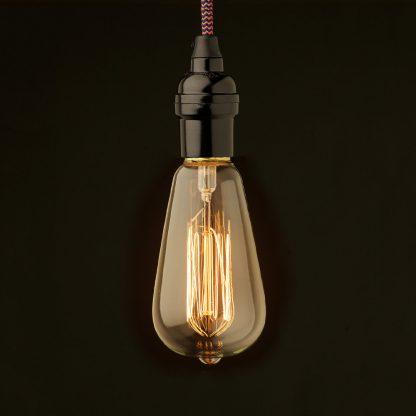 Edison style light bulb Vintage Bakelite fitting ST64 Vintage