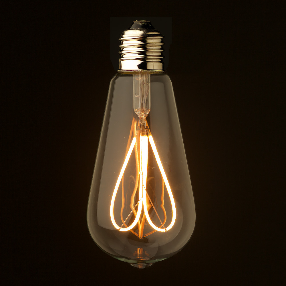 Dimmable vintage led light globes 3 watt loop filament led e27 clear edison parisarafo Images
