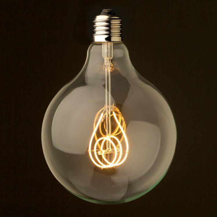 4 Watt Dimmable Cross Loop Filament LED E27 Clear 125mm