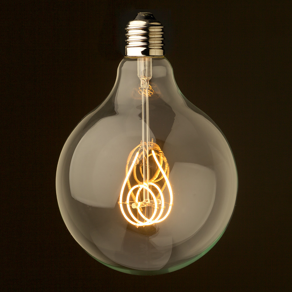 Dimmable vintage led light globes 4 watt dimmable cross loop filament led e27 clear 125mm parisarafo Gallery