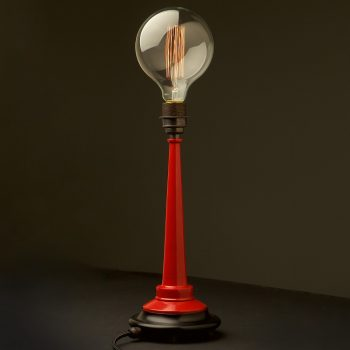 Red-firehose-nozzle-lamp