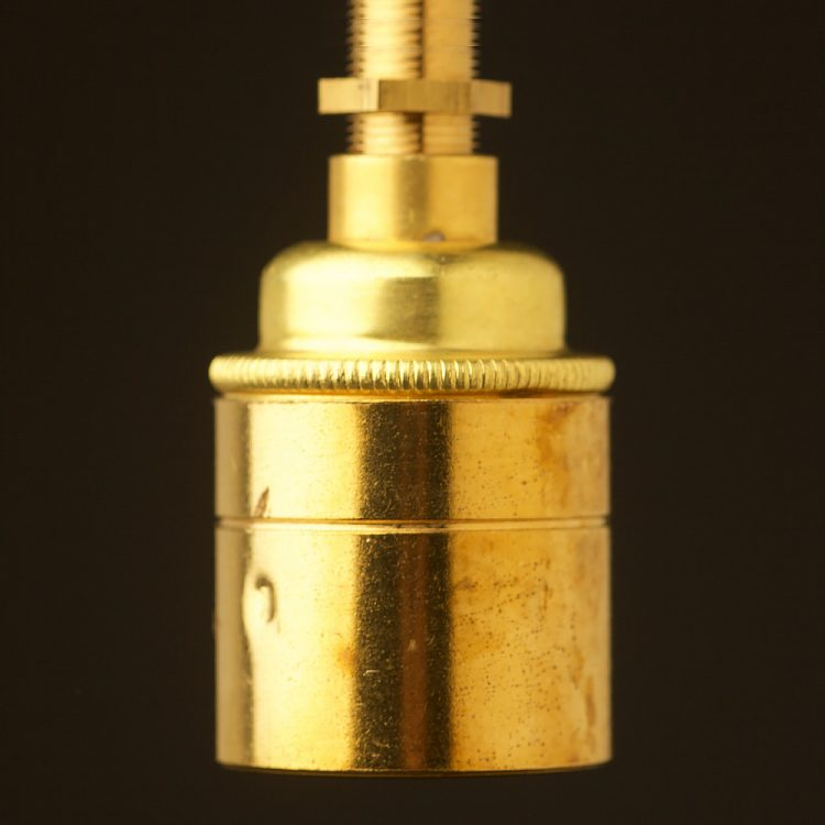 New Brass threaded entry Smooth Lampholder Edison E27