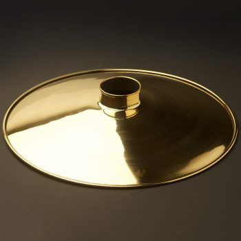 Spun-brass-12-inch-flat-shade