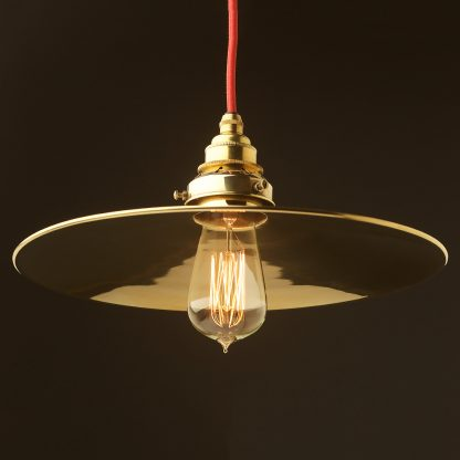 Solid Brass 310mm flat shade pendant