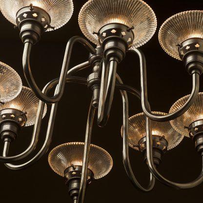 8 bulb brass chandelier bronze side small holophane