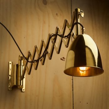 Heavy brass ships scissor wall light