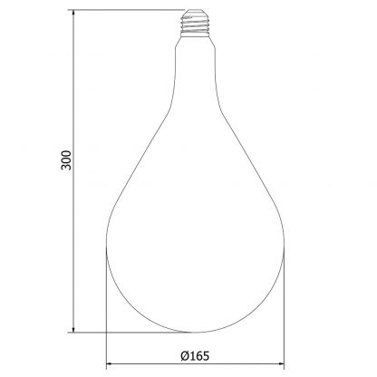 Edison A165 10W Dimmable Filament LED