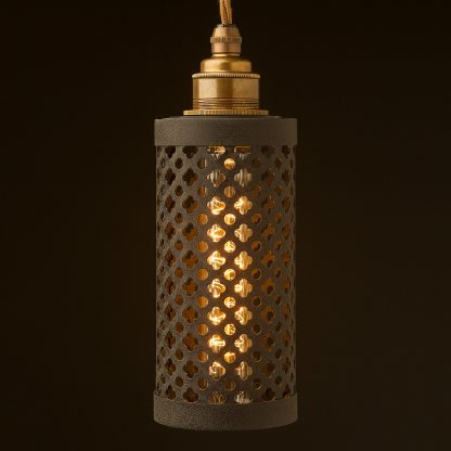 Small club&round mesh cage pendant