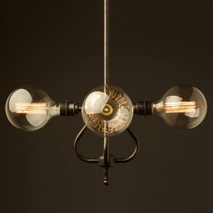 4 bulb coventry bend hub chandelier