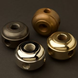 Solid Turned Brass Four Way Coupler