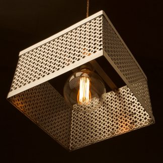300mm Square club&round mesh steel pendant