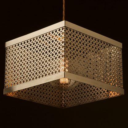 300mm Square club&round mesh steel pendant