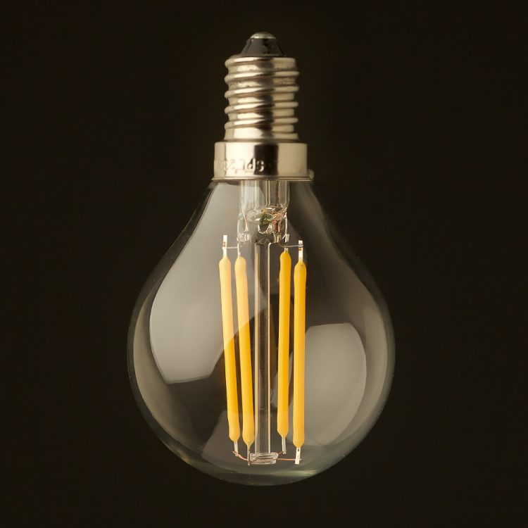 3 Watt Dimmable Filament LED E14 G45 bulb