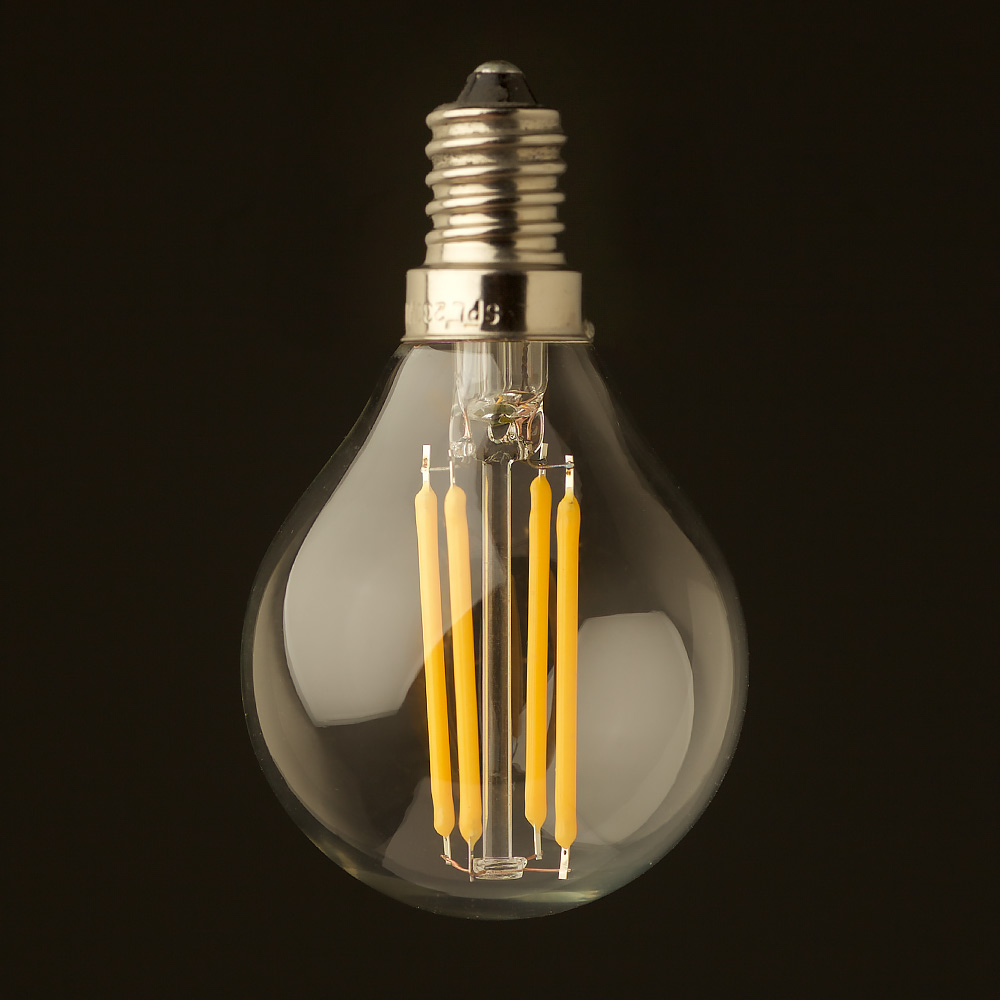 3 watt dimmable filament led e14 g45 bulb. Black Bedroom Furniture Sets. Home Design Ideas