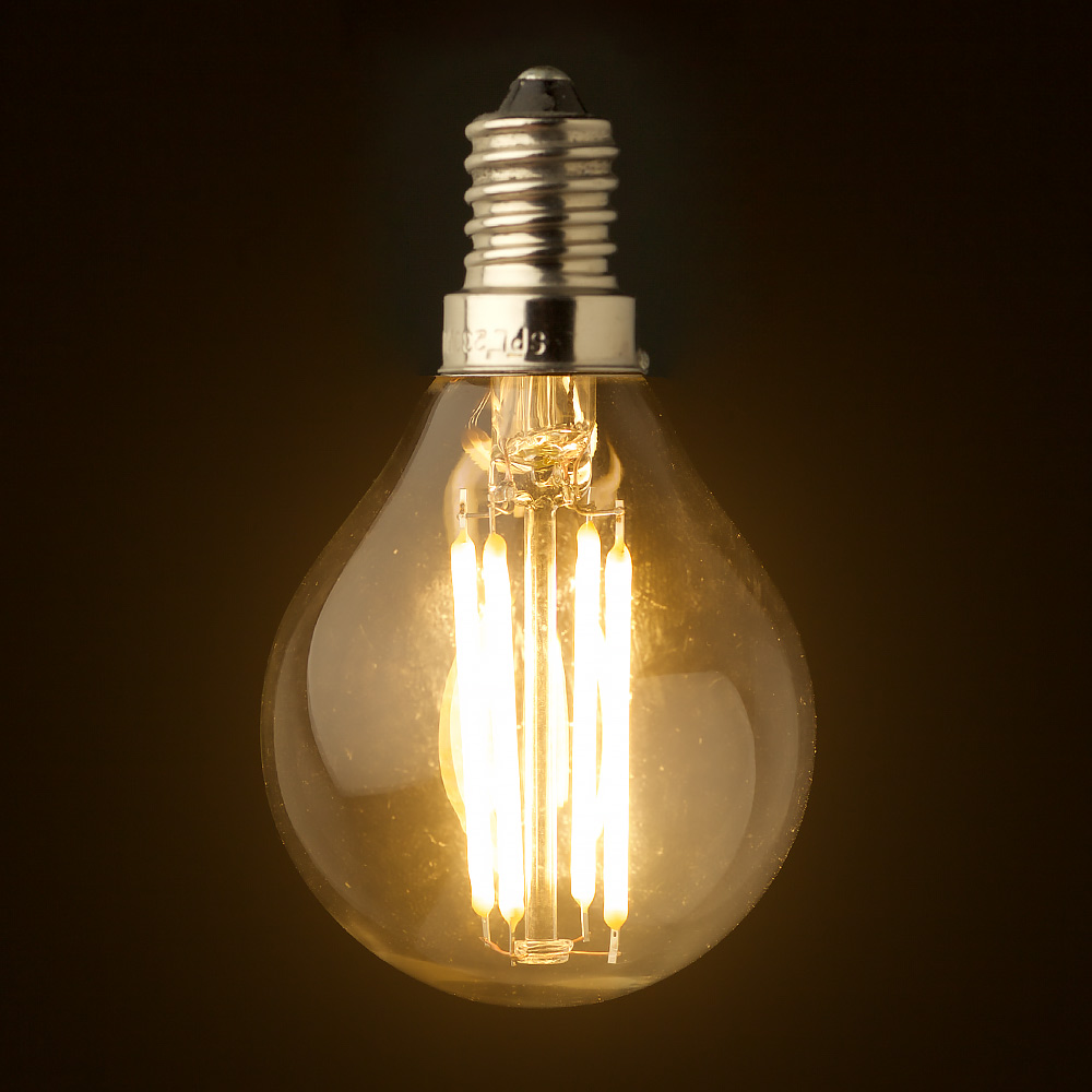 3 watt dimmable filament led e14 g45 bulb Light bulb wattage