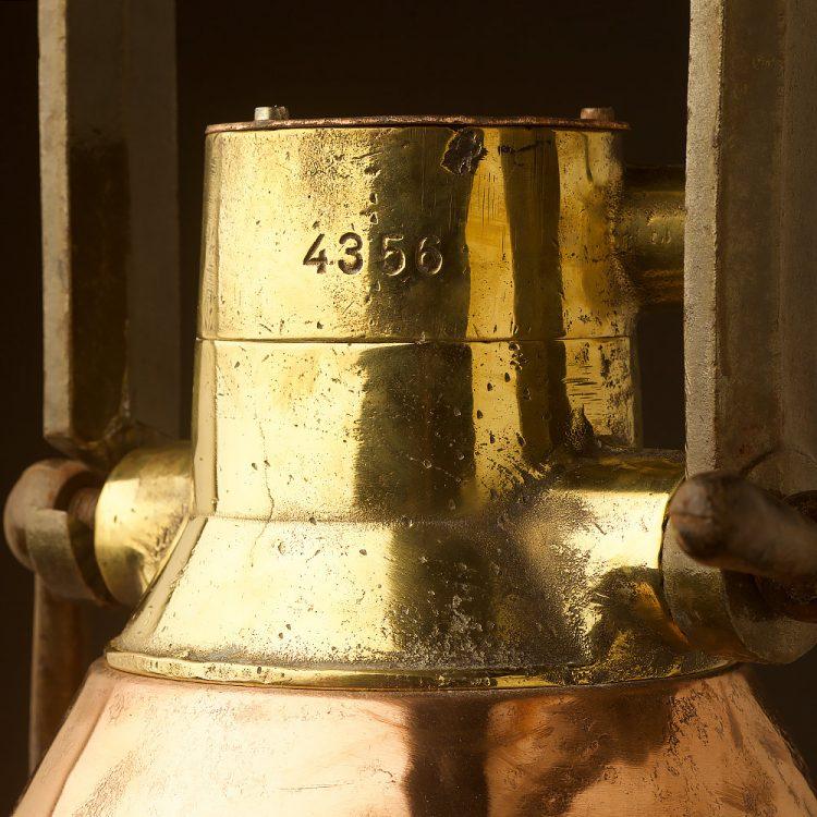 Large Vintage Conical Brass ships deck light