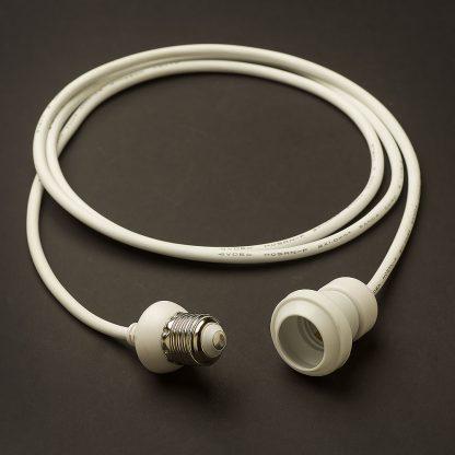 White Commercial E27 Festoon Pendant Drop