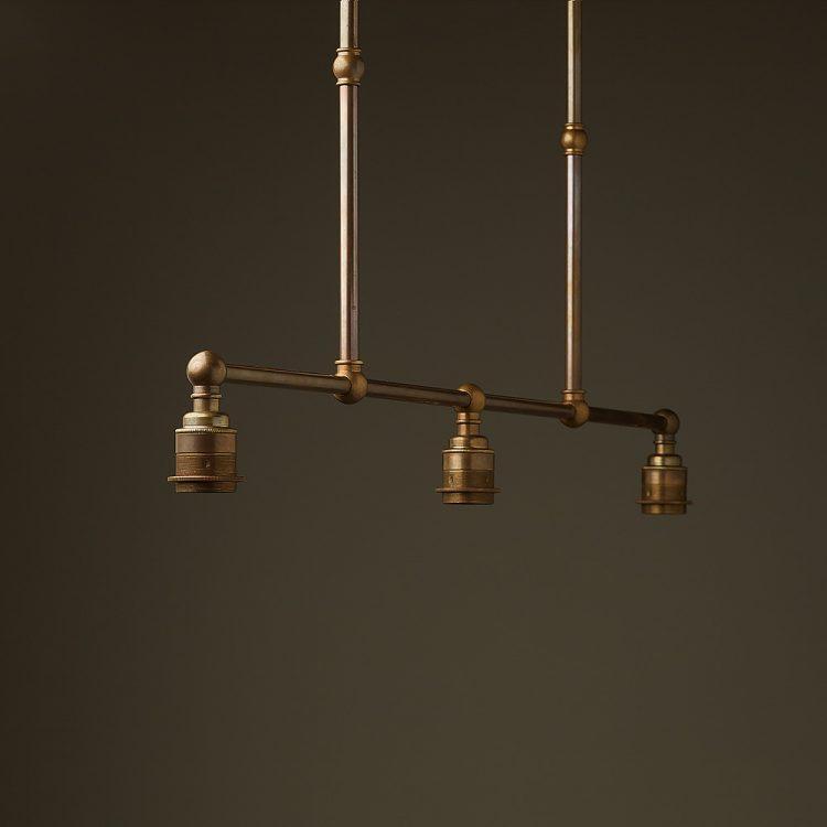 Antique Brass Edison Billiard Table Light