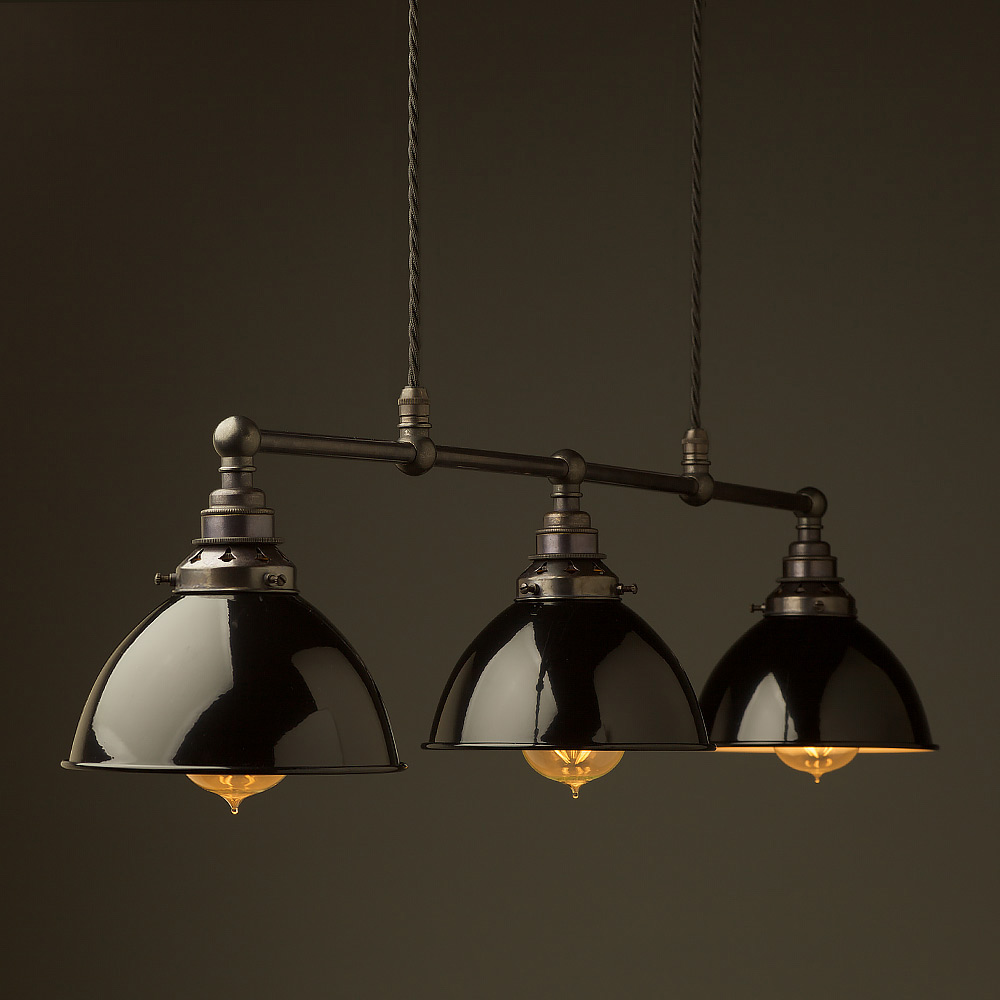 Pool Table Light Black: Bronze Edison Billiard Table Pendant