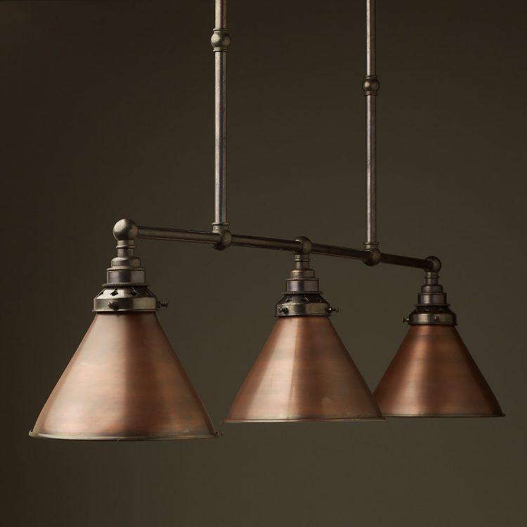 Bronze Edison Billiard Table Light