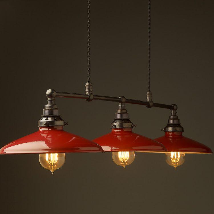 Bronze Edison Billiard Table Pendant