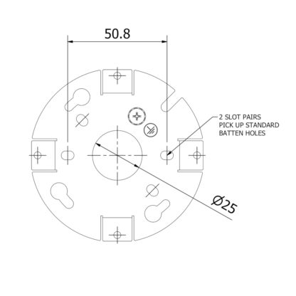 90mm Wall Plate Mount Dimensions