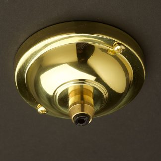 Polished Brass Cord Grip ceiling rose 90mm