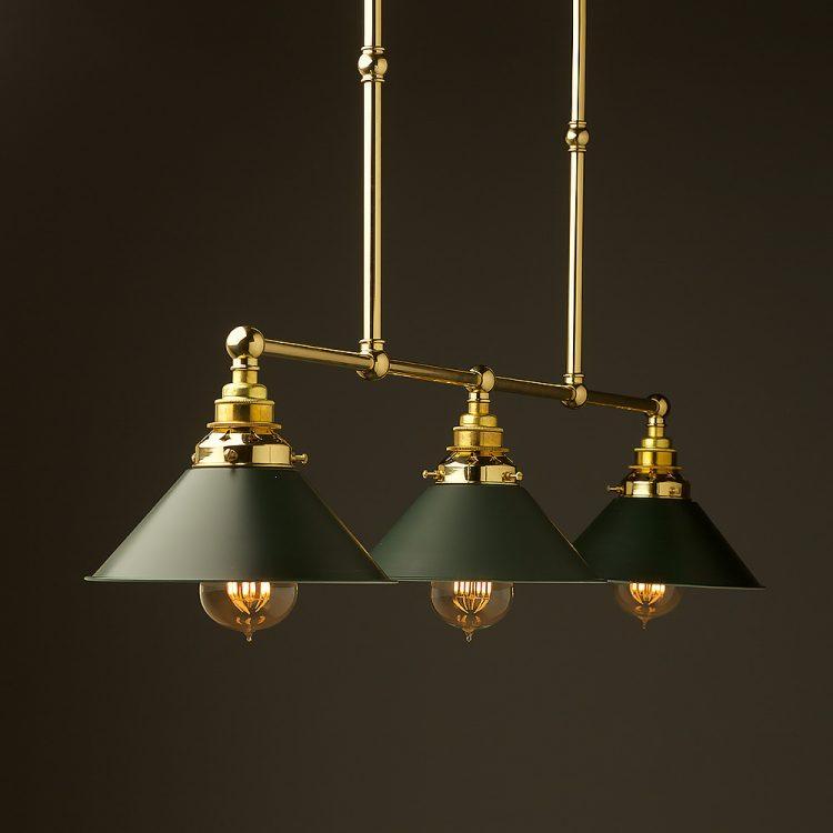 New Brass Edison Billiard Table Light