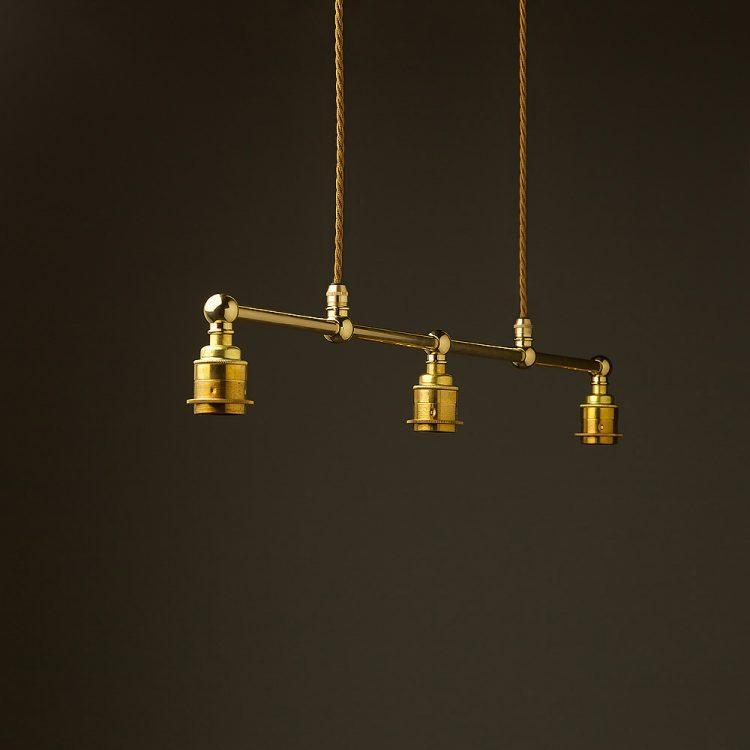 New Brass Edison Billiards Table Pendant