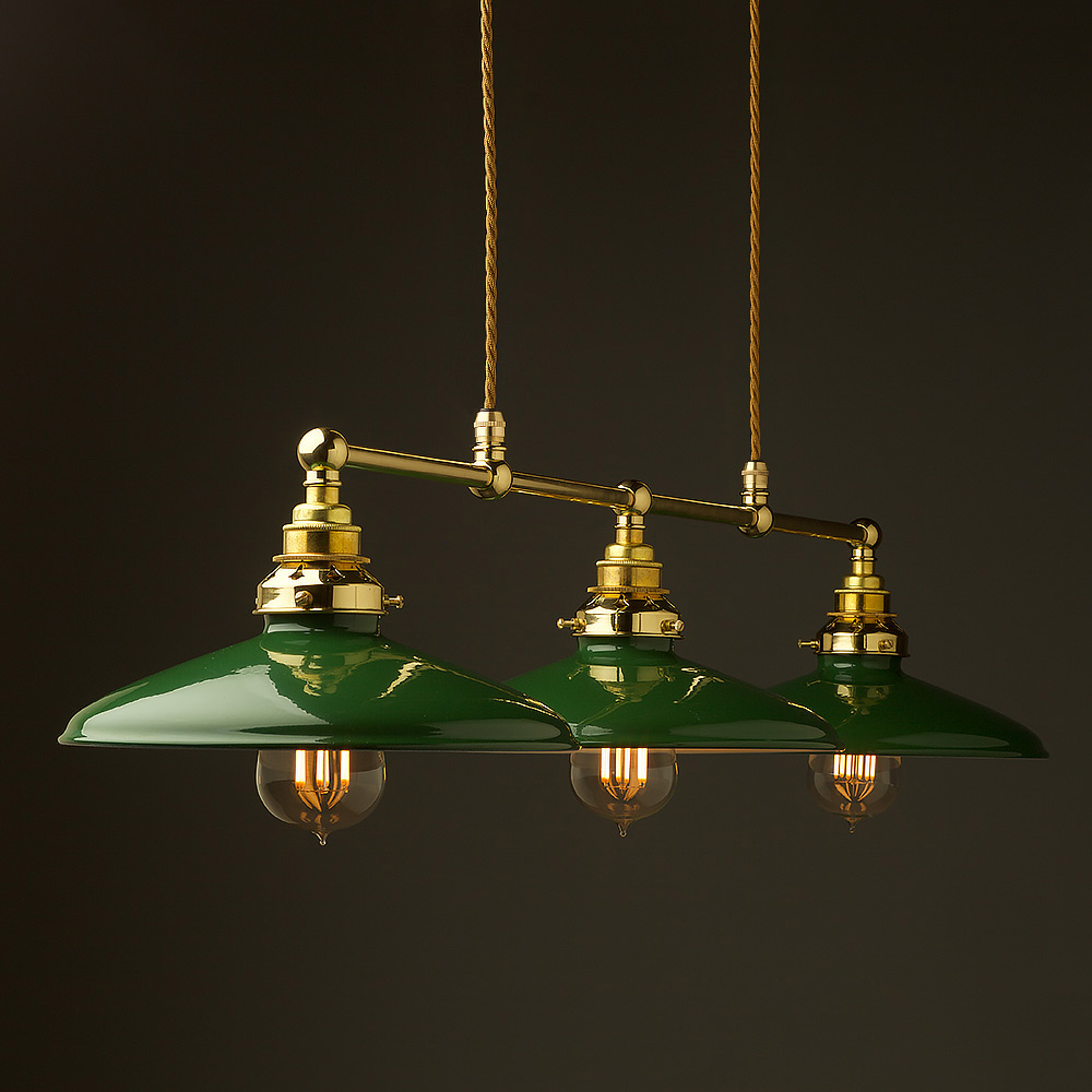 New Brass Edison Billiard Table Pendant