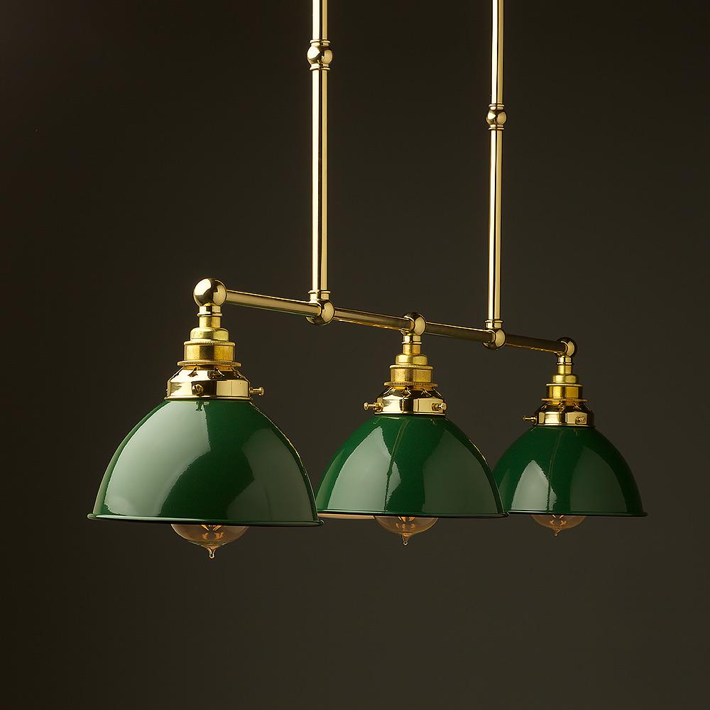 New brass edison billiard table light - Pool table lights ...