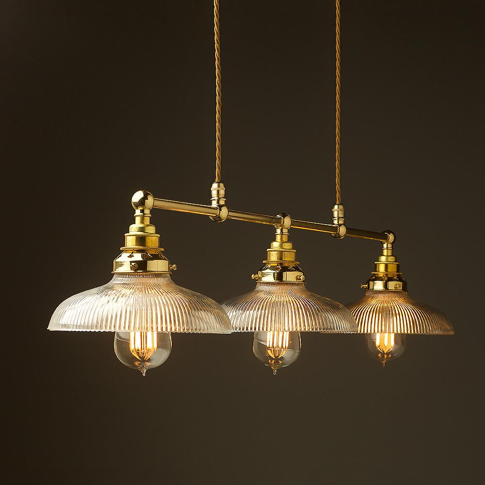 New Brass Edison Billiard Table Pendant