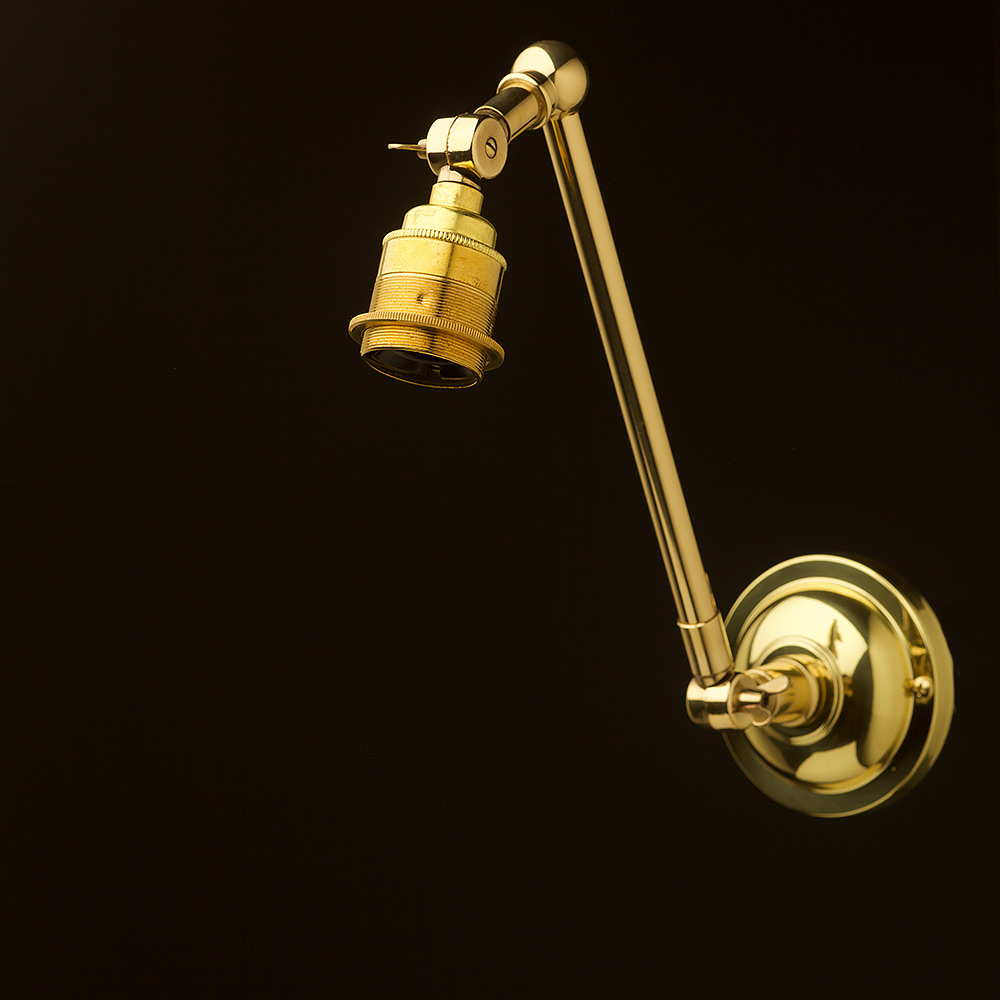 New Brass Adjustable Arm wall mount shade