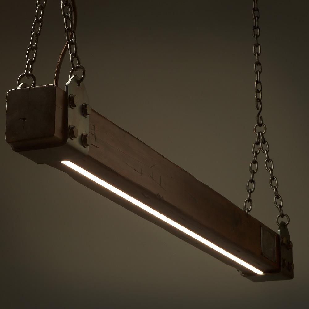 Wood Beam LED Pendant Light No.1 • Edison Light Globes Pty Ltd
