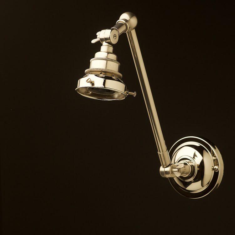 Nickel Adjustable Arm wall mount shade