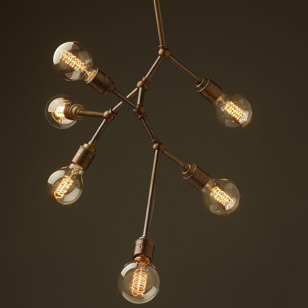 bulb vertical angled brass bar chandelier – Bar Chandelier