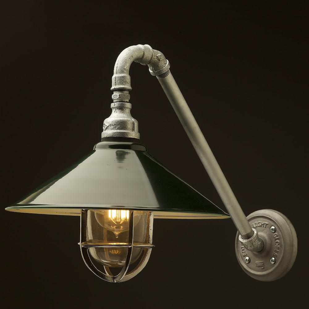 Outdoor Lamp Shades: Outdoor Angled Plumbing Pipe Wall Shade Lamp